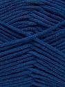 Fiber Content 55% Cotton, 45% Acrylic, Brand ICE, Dark Blue, Yarn Thickness 4 Medium  Worsted, Afghan, Aran, fnt2-45149