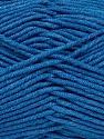 Fiber Content 55% Cotton, 45% Acrylic, Brand ICE, Blue, Yarn Thickness 4 Medium  Worsted, Afghan, Aran, fnt2-45150