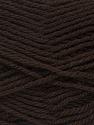 Fiber Content 60% Acrylic, 40% Wool, Brand ICE, Dark Brown, Yarn Thickness 3 Light  DK, Light, Worsted, fnt2-46733